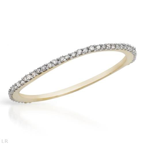 Yellow Gold 0.17 CTW Color G-H I2 Diamond Ladies Ring. Ring Size 6.5. Total Item weight 0.7 g.