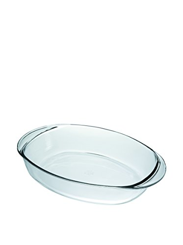 Duralex Oval Baking Dish, 15.5 by 10.5-Inch, Clear