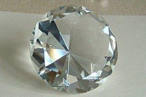 Diamante Gigante fermacarte in vetro