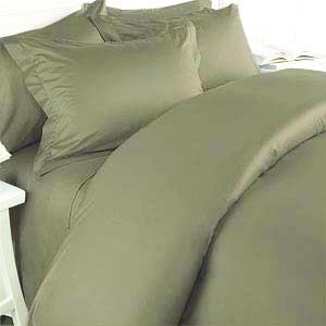 300TC Egyptian Cotton TWIN SAGE SOLID DUVET COVER SET BY MARRIKAS