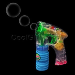 Fun Central C205 LED Light Up Bubble Gun - 6 Inch