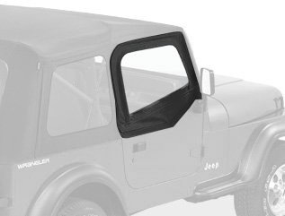 Bestop 51780-15 Black Denim Fabric Upper Half Door Set For 88-95 Wrangler