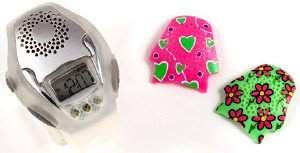 OnGuard Kids Digital Watch with Safety Alarm & Interchangeable Faceplates (Girls)
