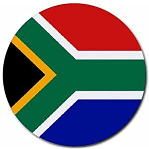 South Africa Flag Round Mouse