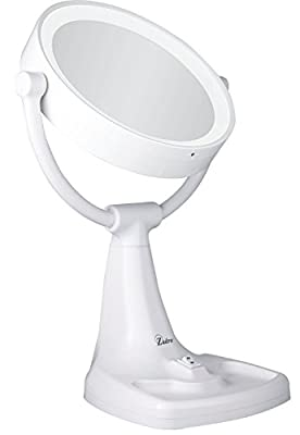 Cheapest Zadro Max Bright Surround Light Sunlight Dual Sided Vanity Mirror, White, 10X/1X Magnification from Zadro - Free Shipping Available