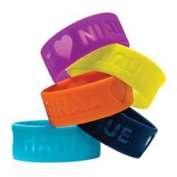 One Direction Limited Edition 1D + OD Together Silicone Wristbands, Bundle Set of 5: Harry, Liam, Louis, Niall, and Zayn (One Direction Bff compare prices)