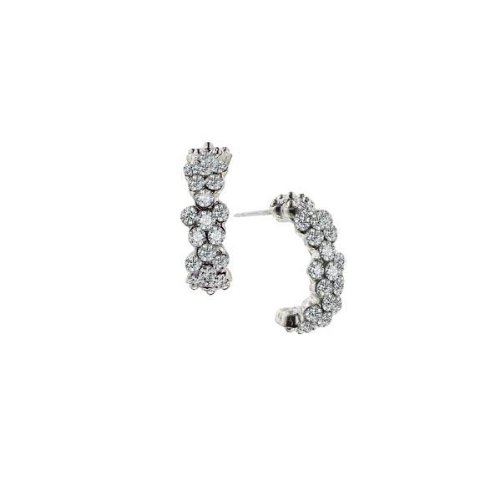 Amore Floral Arc Half-Hoop Earrings
