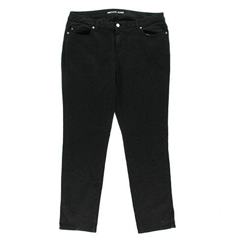Michael Kors Womens Plus Denim Mid-Rise Skinny Jeans Black 24W