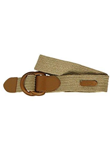 """Lauren Ralph Lauren Womens 1 1/2"""" Woven Stretch Straw Pullback Belt Natural/lauren Tan Xl"""