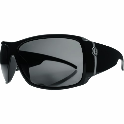 Electric Big Beat Wrap Polarized Sunglasses,Gloss Black,164 Mm