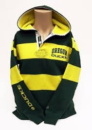 Officially Licensed by NCAA Oregon Ducks Green Rugby Pullover Hoodie