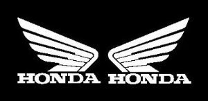 Honda Wing (set of 2) decal sticker, White (Honda Wings compare prices)