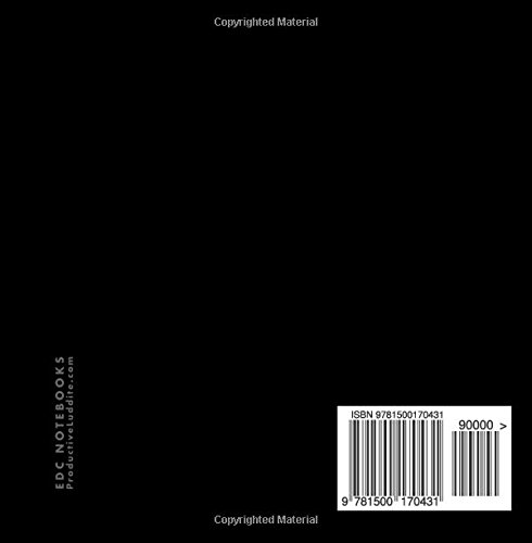Matte Black Lined Notebook, 6x6, 100 Pages (Small Square Sized Notebooks)
