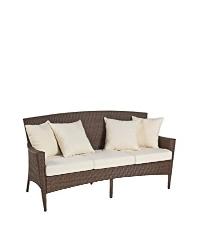 Panama Jack Key Biscayne Woven Sofa With Cushions, Antique Brown