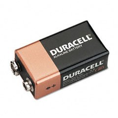 Duracell MN16RT4Z Coppertop Alkaline Batteries 9V 4 Count