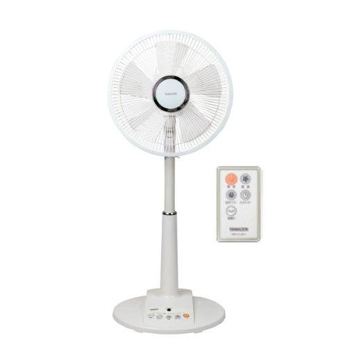 山善(YAMAZEN) (DCモーター搭載)30cmリビング扇風機(静音モード搭載)(リモコン)(風量4段階)入切タイマー付 ホワイト YLX-LD301(W)