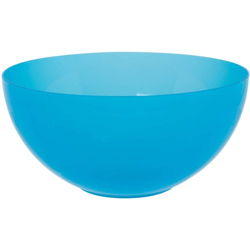 Caribbean Blue Large Plastic Serving Bowl