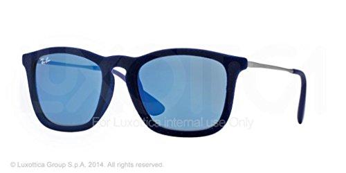 Ray-Ban Men's Chris Square Sunglasses,Flock Blue,54 mm