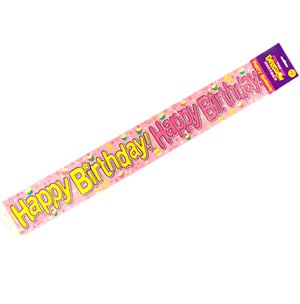 Expression Factory Banner Happy Birthday Pink Cakes