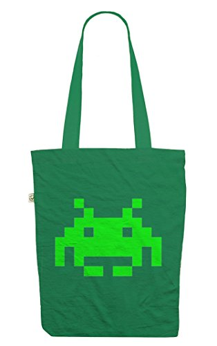 Retro Space Invader Tote Bag. Available in five colour choices - top quality