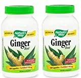 Natures Way Ginger Root, 550mg, 180 Capsules (Pack of 2)