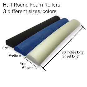 Foam Roller - Half Round Cylinder from Therapy Best Buys