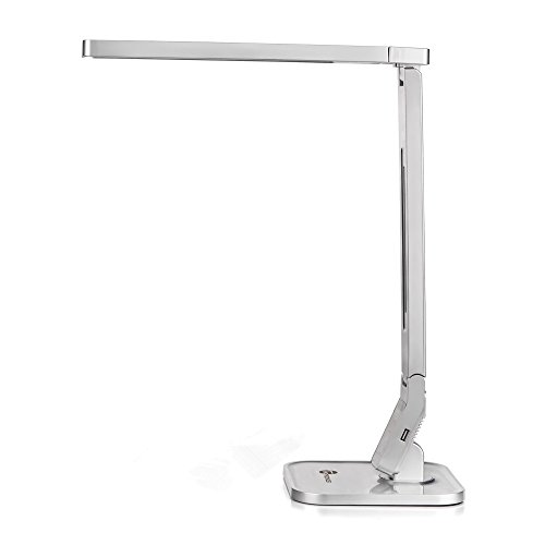 TaoTronics TT-DL07 Dimmable Rotatable LED Desk Lamp(Silver, 4 Lighting Modes, 5-Level Dimmer, Touch-Sensitive Control Panel, 1-Hour Auto Timer, 5V/2A USB Charging Port,USB Charging port)) (Tao Led Lighting compare prices)