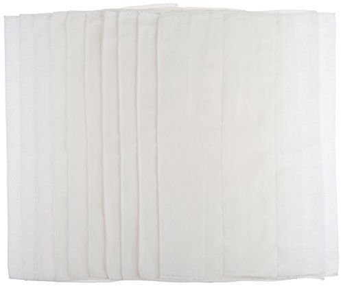 Gerber Birdseye 3-Ply Prefold Cloth Diapers White 10 Count Newin - 1
