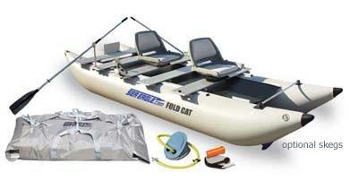 14scDLX Sea Eagle 12 Ft FoldCat Inflatable Catamaran Incl Swivel Seats Pump