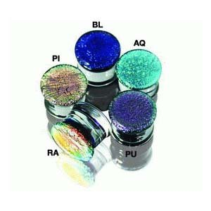 Pryex Glass Dichroic Rainbow Double Flared Plugs -1/2