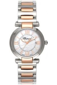 NEW LADIES CHOPARD IMPERIALE 18K ROSE GOLD STEEL MOP DIAL WATCH 388541-6002
