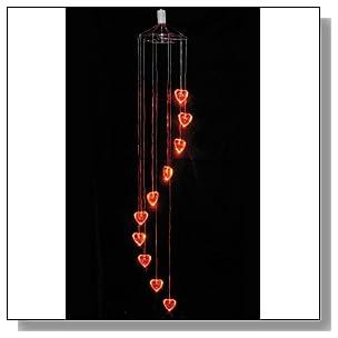 LED Lighted Heart Mobile