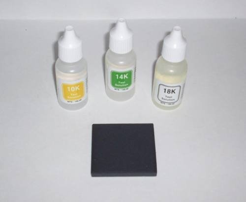 Authenticity Test Kit for Scrap Gold 10K 14K 18K Personal Acid Coin/Jewelry Testing Set