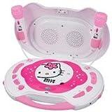 Hello Kitty KT2003B CD Karaoke System and CD Player, Random Play Button, LCD Display