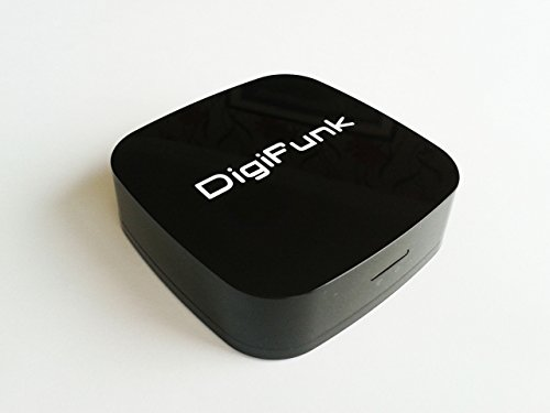 WiFi Audio Music Receiver Adapter - AirPlay Compatible - Turns any existing Speakers Docks & Sound Systems into Wireless Streaming Systems - DigiFunk® - DLNA Stream Stereo Bluetooth Speaker 3.5mm AirMusic