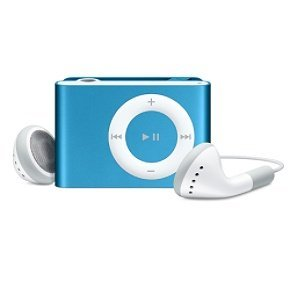 BLUE MP3 Metal Mini Clip Player Supports 8GB Micro SD Card