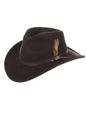 Billings Crushable Wool Hat, CHOCOLATE, Size LARGE (7 1/4 - 7 3/8)