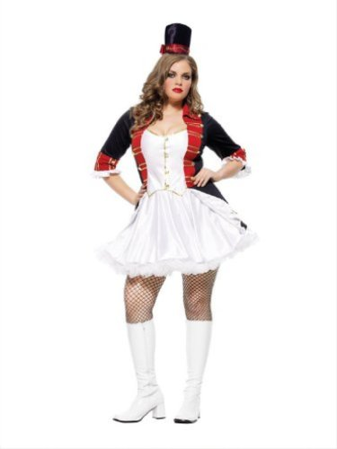 Two Piece Toy Soldier Costume 83451X (White/Red, 1X/2X)