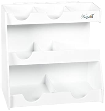 "TrippNT 50027 White PVC Plastic Top Loader Workstation, 12.5"" Width x 12"" Height x 7"" Depth"