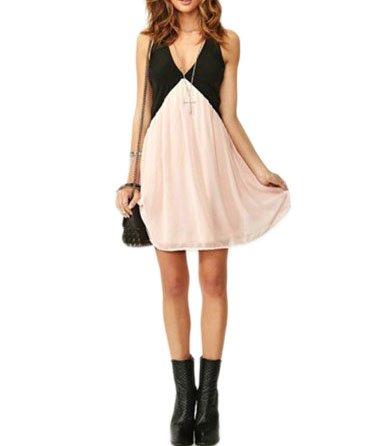 """Waooh - Fashion - Zweifarbiges Kleid Tüll """"Abigael"""" - Pink / Schwarz - Größe M"""