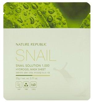 ネイチャーリパブリック NATURE REPUBLIC スネイルソリューション1000ハイドロゲルマスクシート 20g