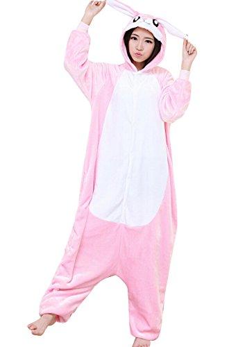 Adult Halloween Cosplay rabbit Animal Pajamas bunny Animal Onesie sleepwear (L (66.5