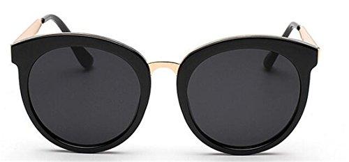 Image of GAMT Round Sunglasses Large Frame Sunglasses Oversize Eyewear for Women Retro Tide Black