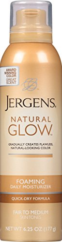 Jergens Natural Glow Foaming Body Lotion, Fair to Medium, 5 Ounce