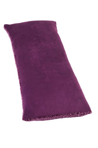 Feathersoft By Casual Living Supersoft And Lofty Oversized Sherpa Body Pillow, Purple front-119800