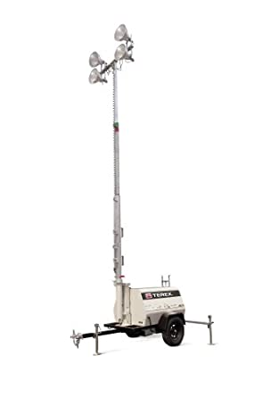 Terex AL4 Heavy-Duty Portable Light Tower,6kW  Generator Powered 4000 Watts of Light