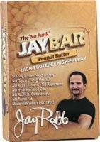 Jay Robb Enterprises - Jaybar Peanut Butter Bar, 12 Bars, 1Lb. 8 Oz (1 Bar-57G)