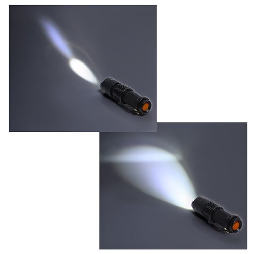 Black Friday 2013 FordEx Group 300lm Mini Cree Led Flashlight Torch Adjustable Focus Zoom Light Lamp