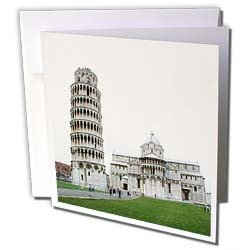 Vacation Spots - Tower Of Pisa Italy - Greeting Cards-6 Greeting Cards with envelopes