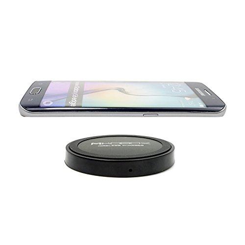 Mikobox 「Qi」規格充電パッド ワイヤレスチャージャー(円形) 無接点充電 スマホ置くだけ充電 無線充電器 Galaxy S6,S6 Edge,Nexus 5,Nexus 7,Nexus 4,LG,HTC対応(国内正規品) (2015) (ブラック)